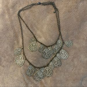 """Double layer """"leaf"""" Necklace"""
